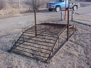 5' or 6' wide – Cut your fence and tie to each post. Never have to open a gate for your 4-wheeler. Can put hose or plastic pipe underneath for electric fence.